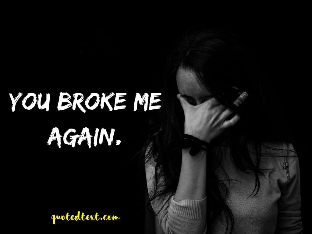 broken sad status