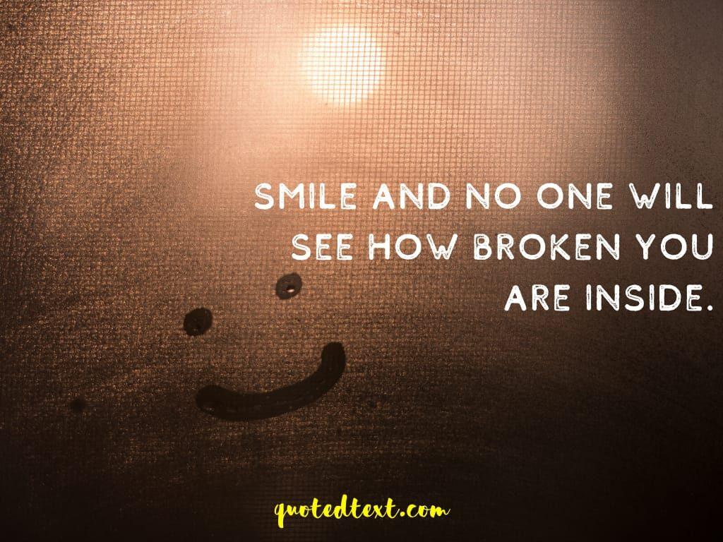 broken inside status