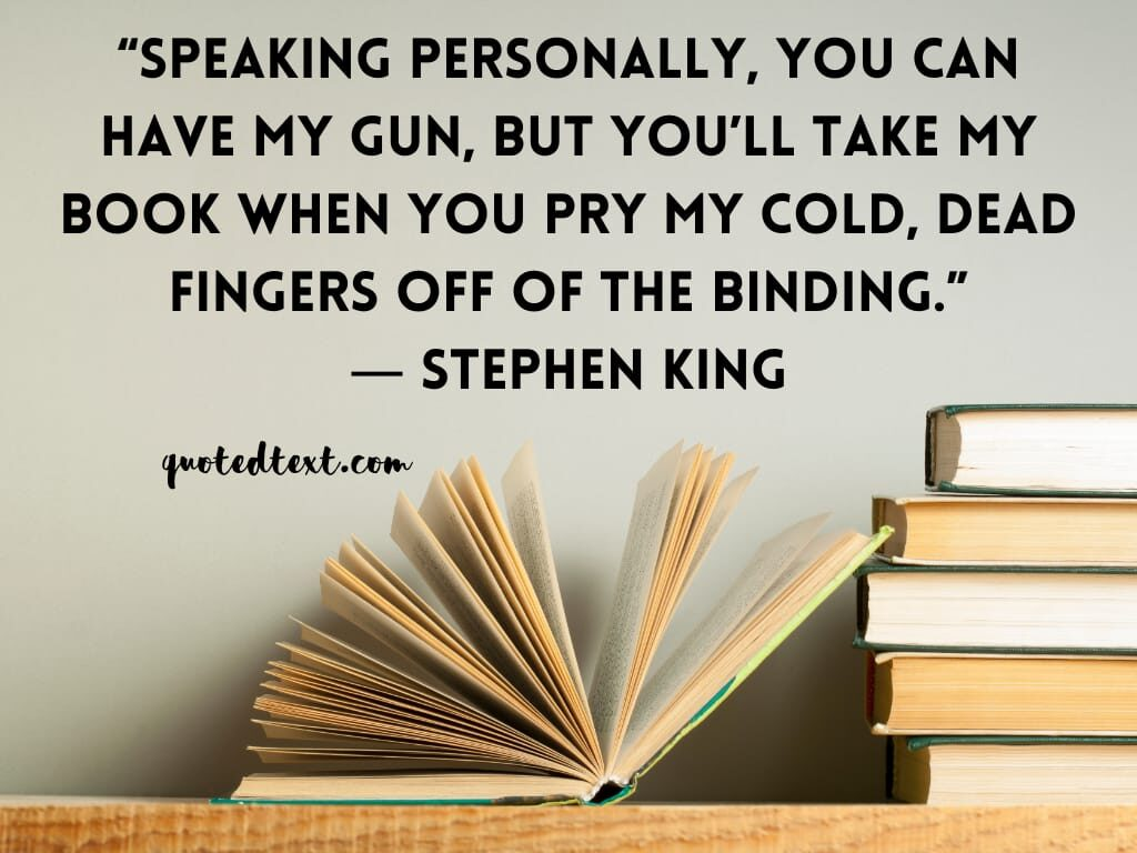 Stephen king quotes on book