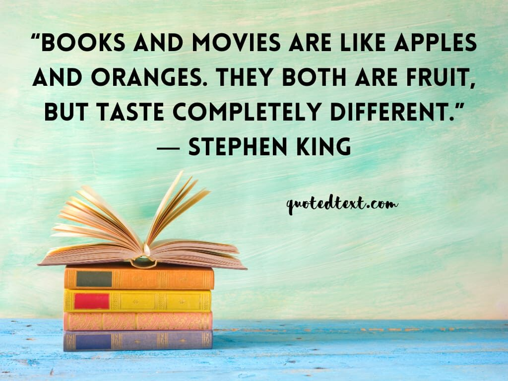 Stephen king quotes on  books
