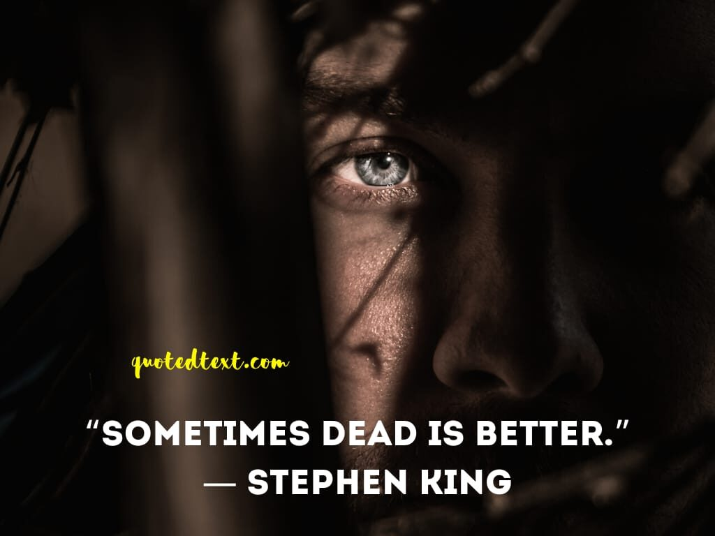 Stephen king quotes on death