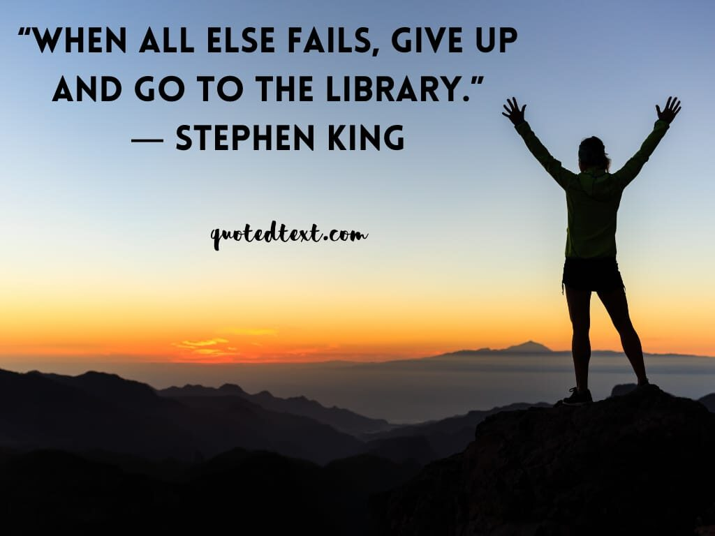 Stephen king quotes on failing