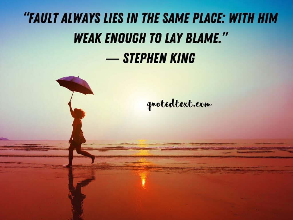 Stephen king quotes on fault
