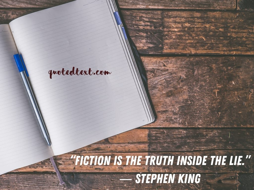 Stephen king quotes on fiction