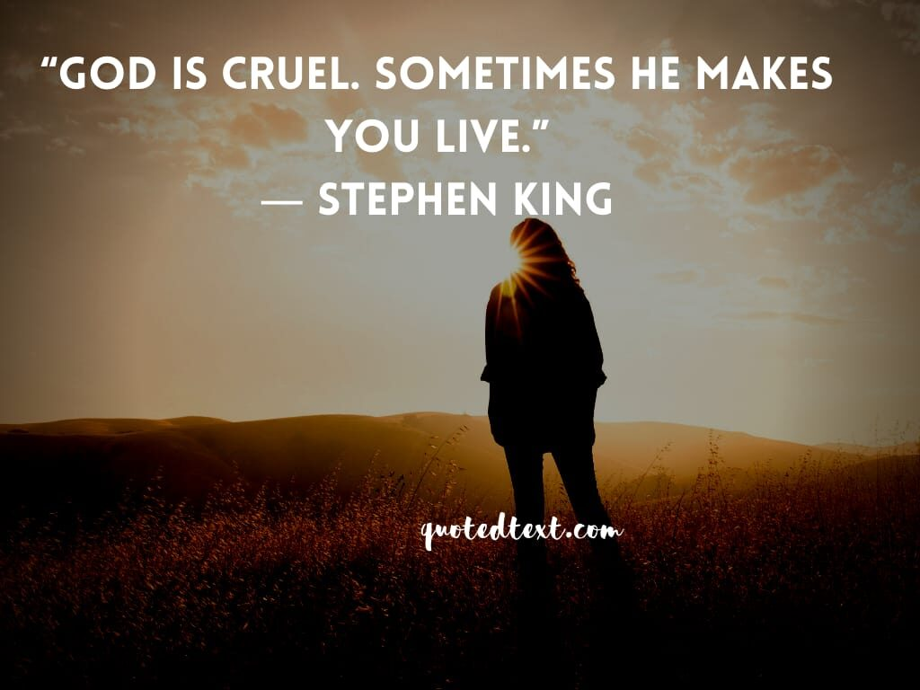 Stephen king quotes on god