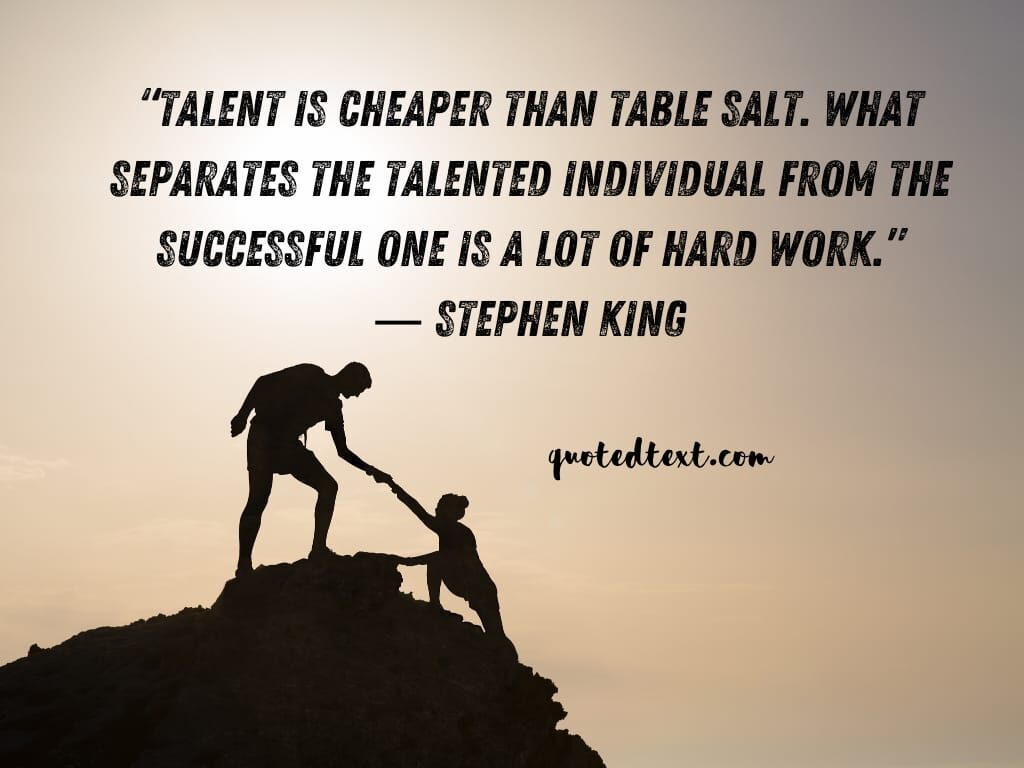Stephen king quotes on talent