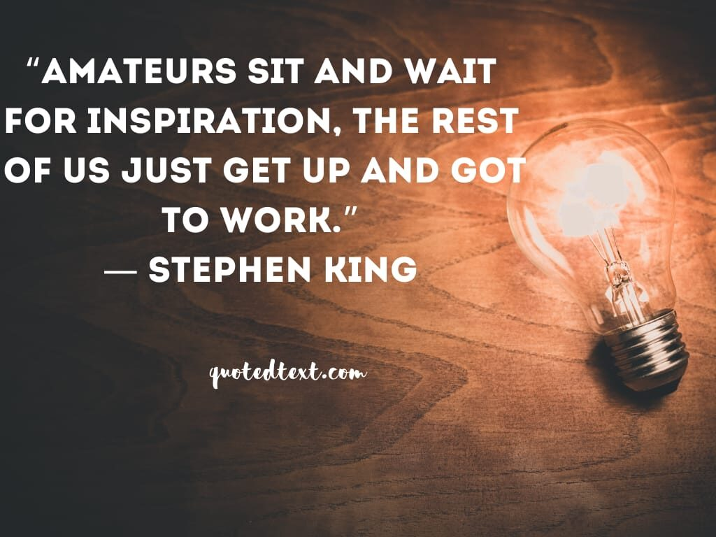 Stephen king quotes on inspiration
