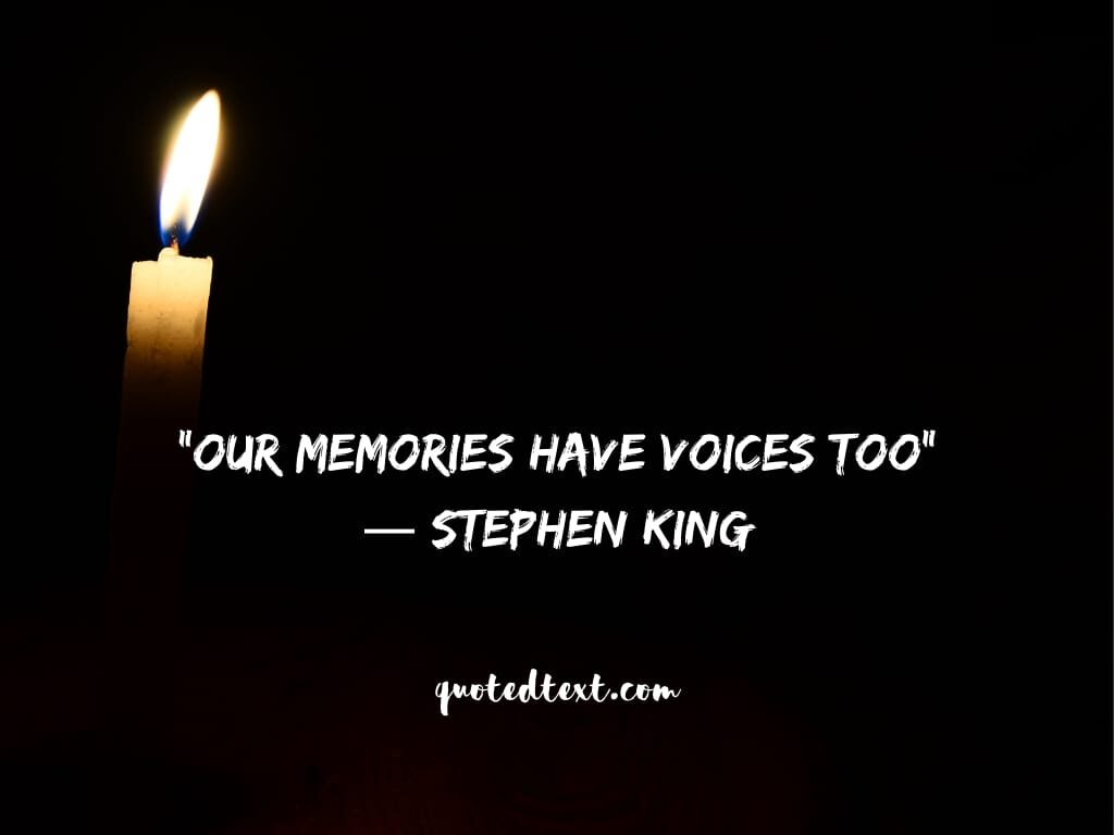 Stephen king quotes on memories