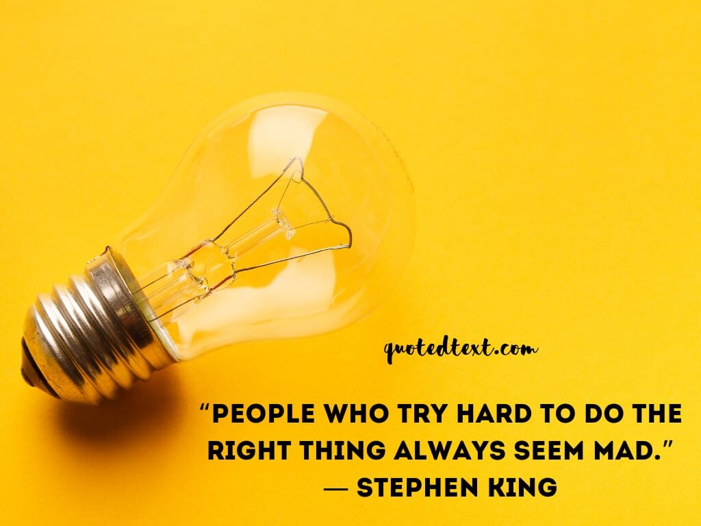 Stephen king quotes on trying