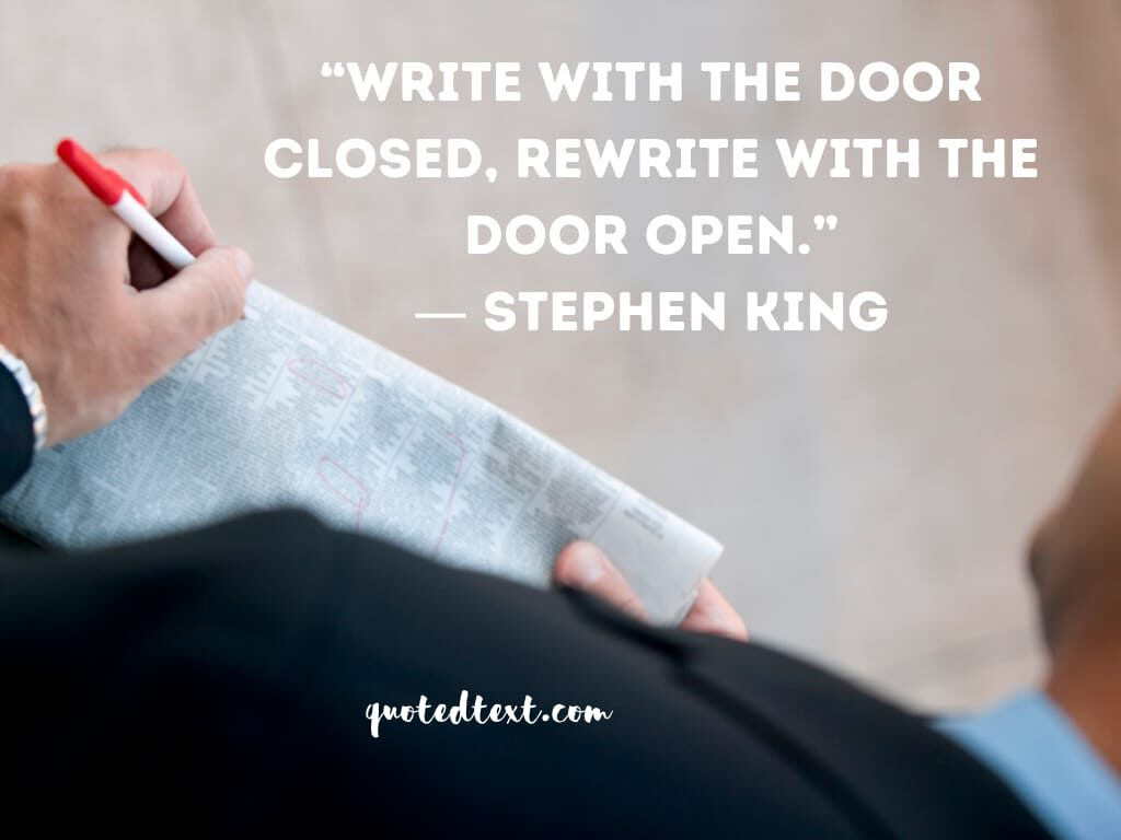 Stephen king quotes on write