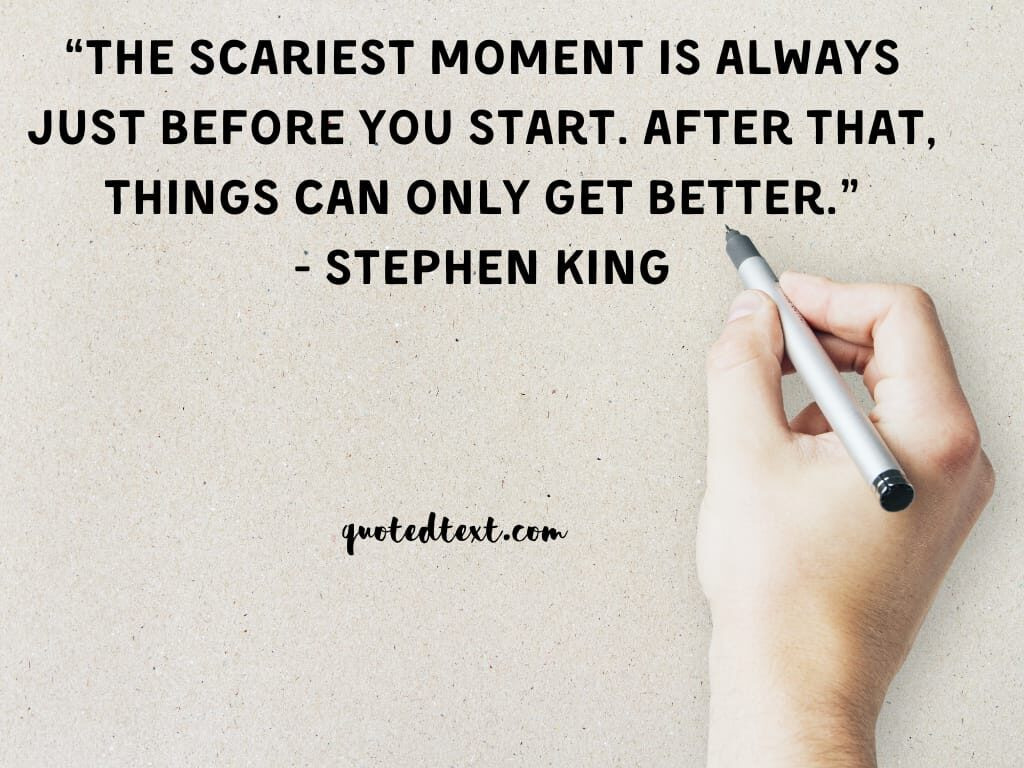 Stephen king quotes on scare