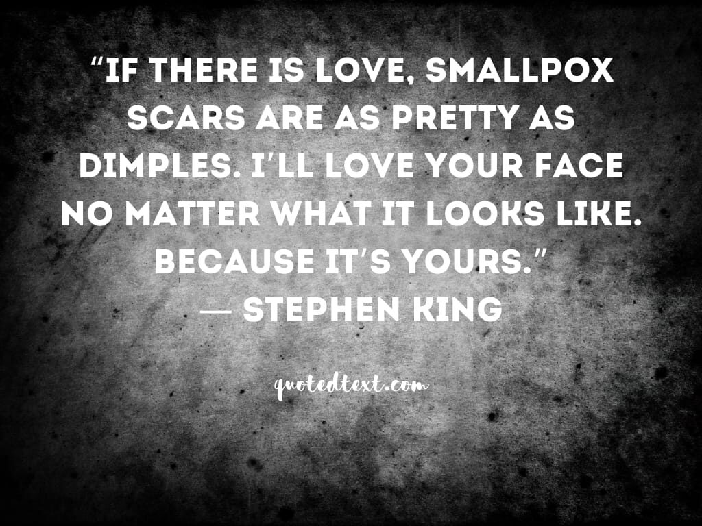 Stephen king quotes on scars