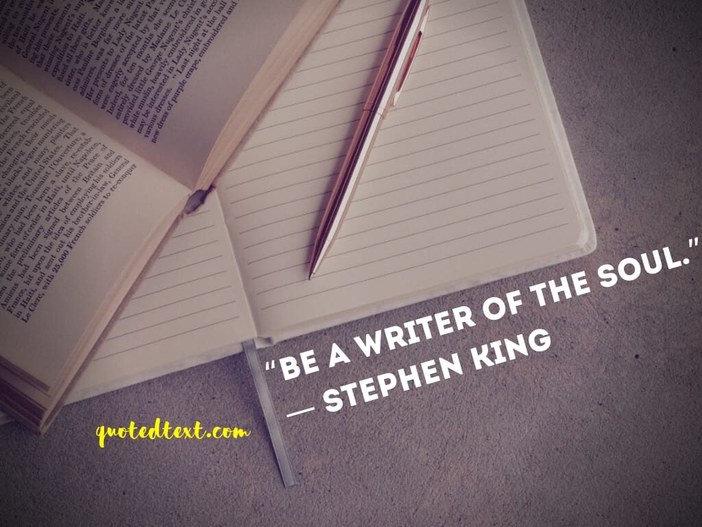 Stephen King quotes on writer