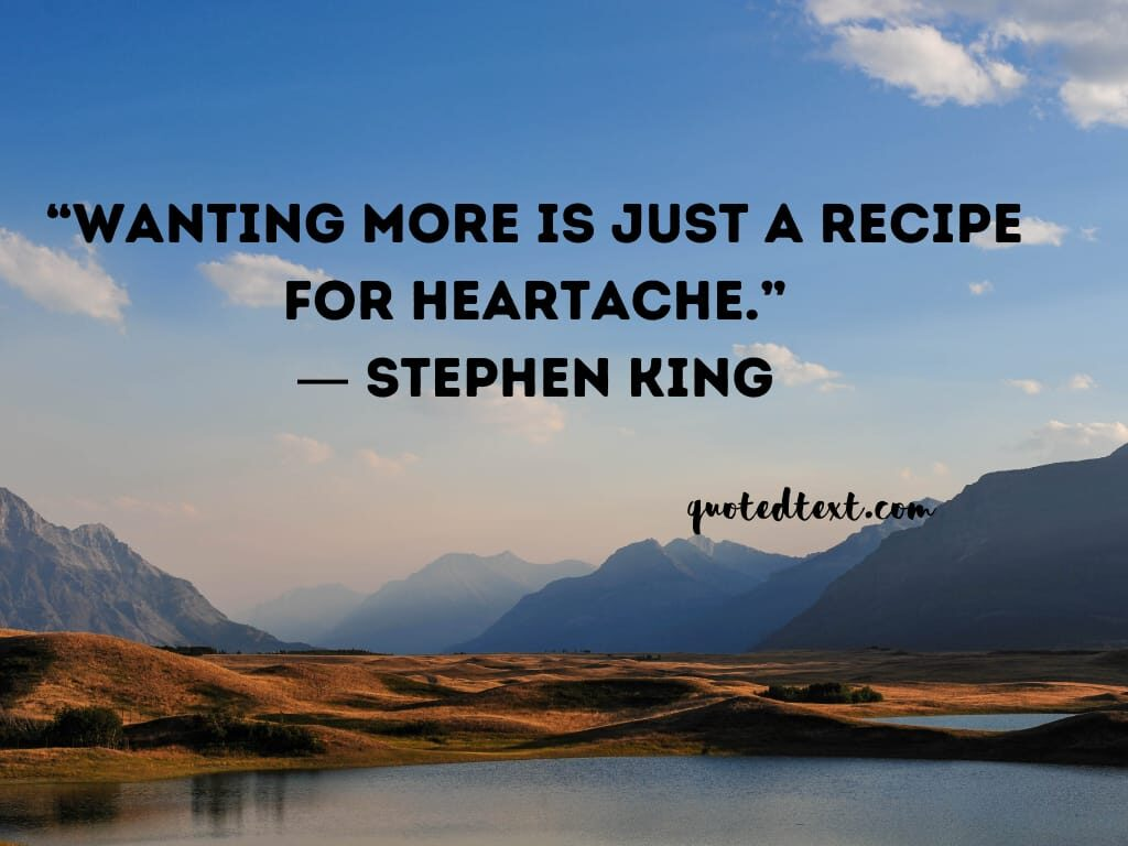 Stephen king quotes on wants