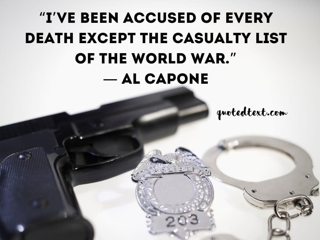 al capone quotes on death