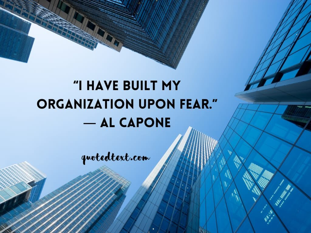 al capone quotes on fear