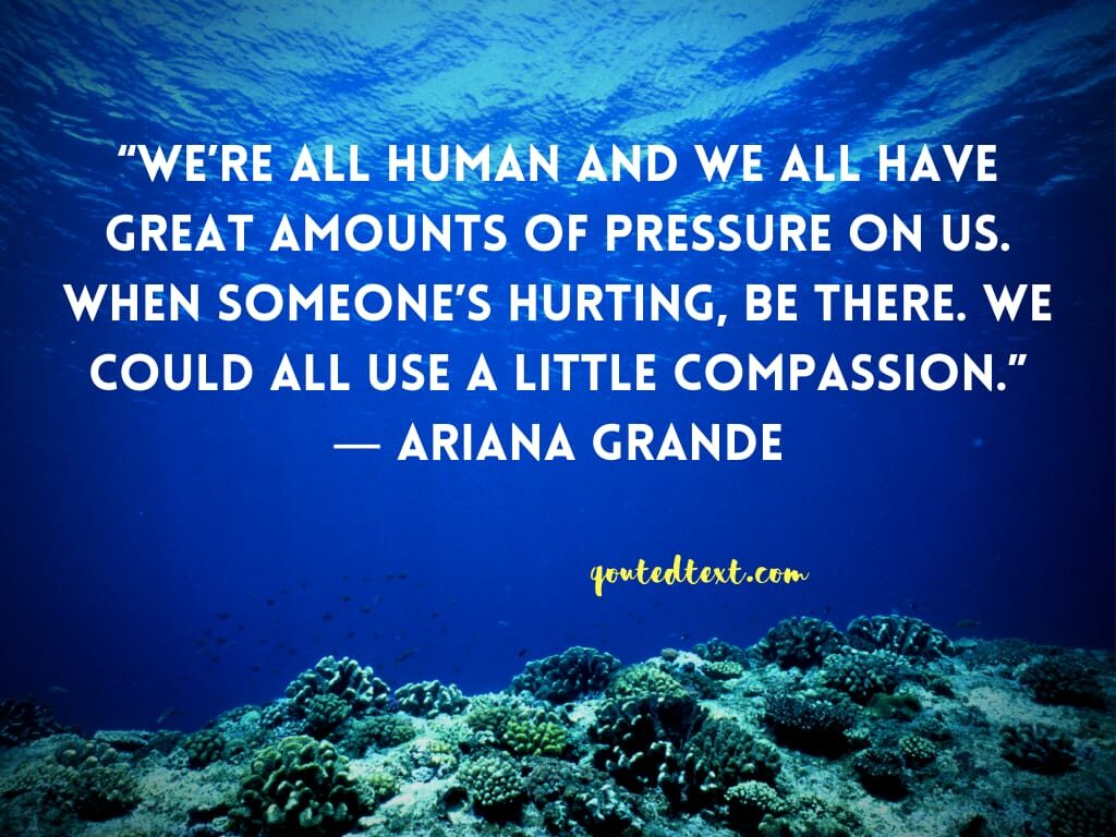 ariana grande quotes on compassion
