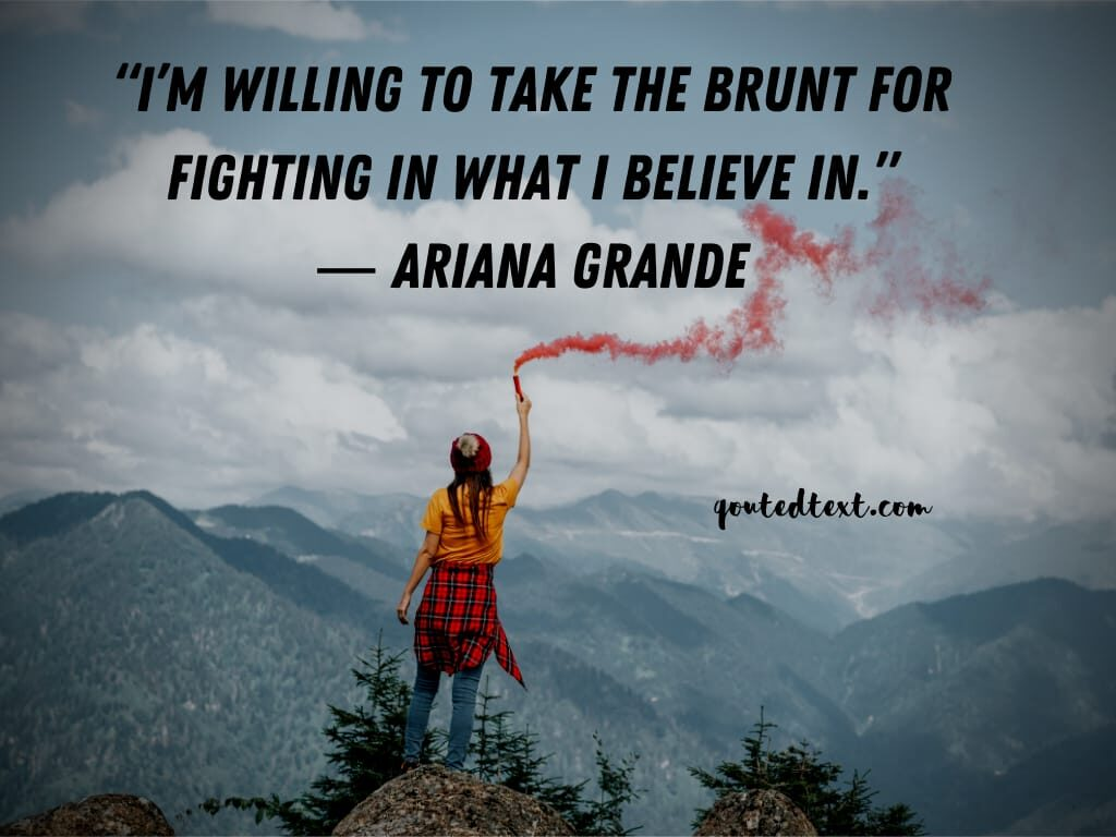 ariana grande quotes on believe