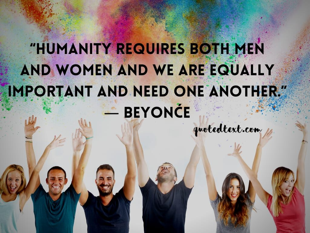 beyonce quotes on humanity