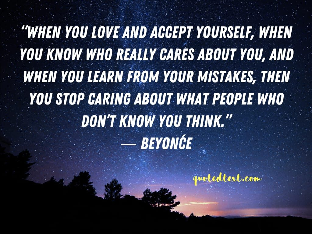 beyonce quotes on accept youself