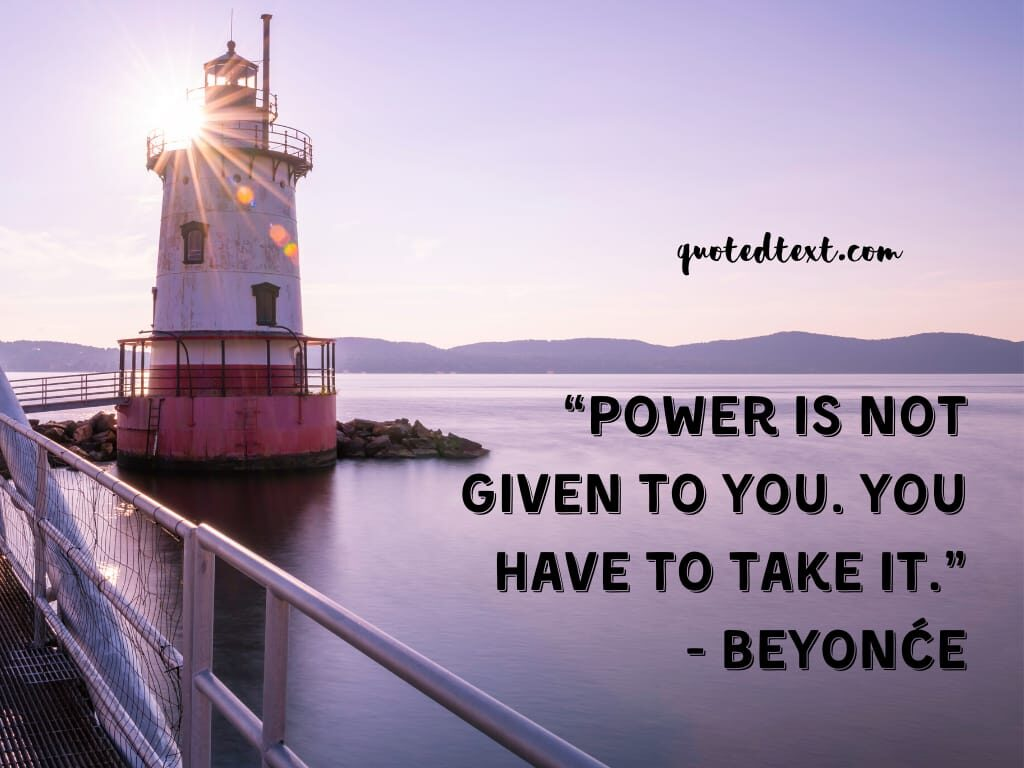 beyonce quotes on power