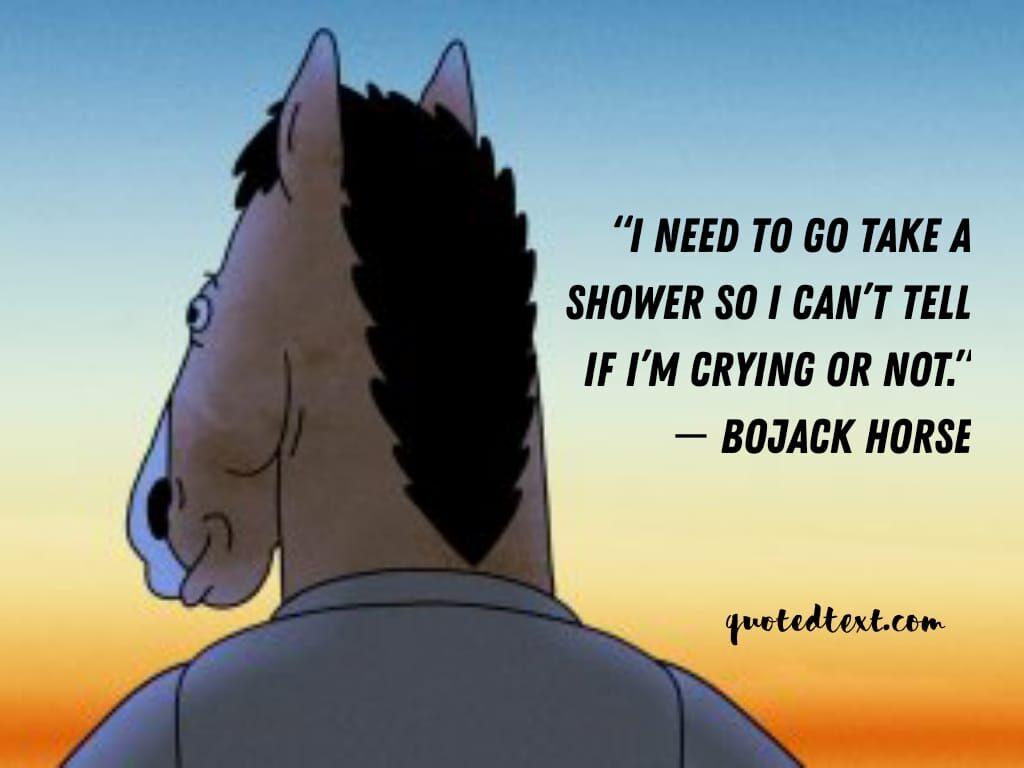 bojack horseman quotes on crying