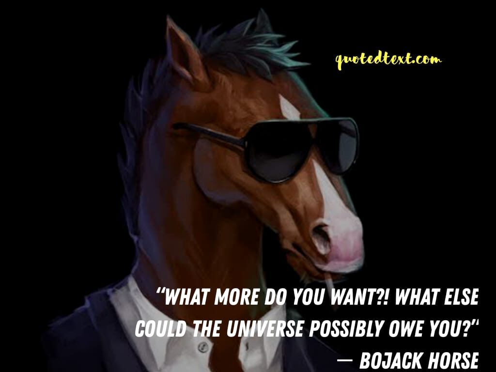bojack horseman quotes on wants
