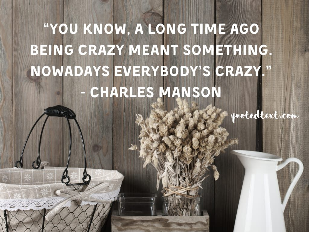 charles manson quotes on craziness