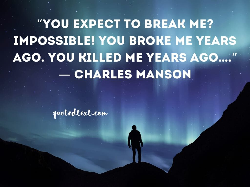 charles manson inspirational quotes