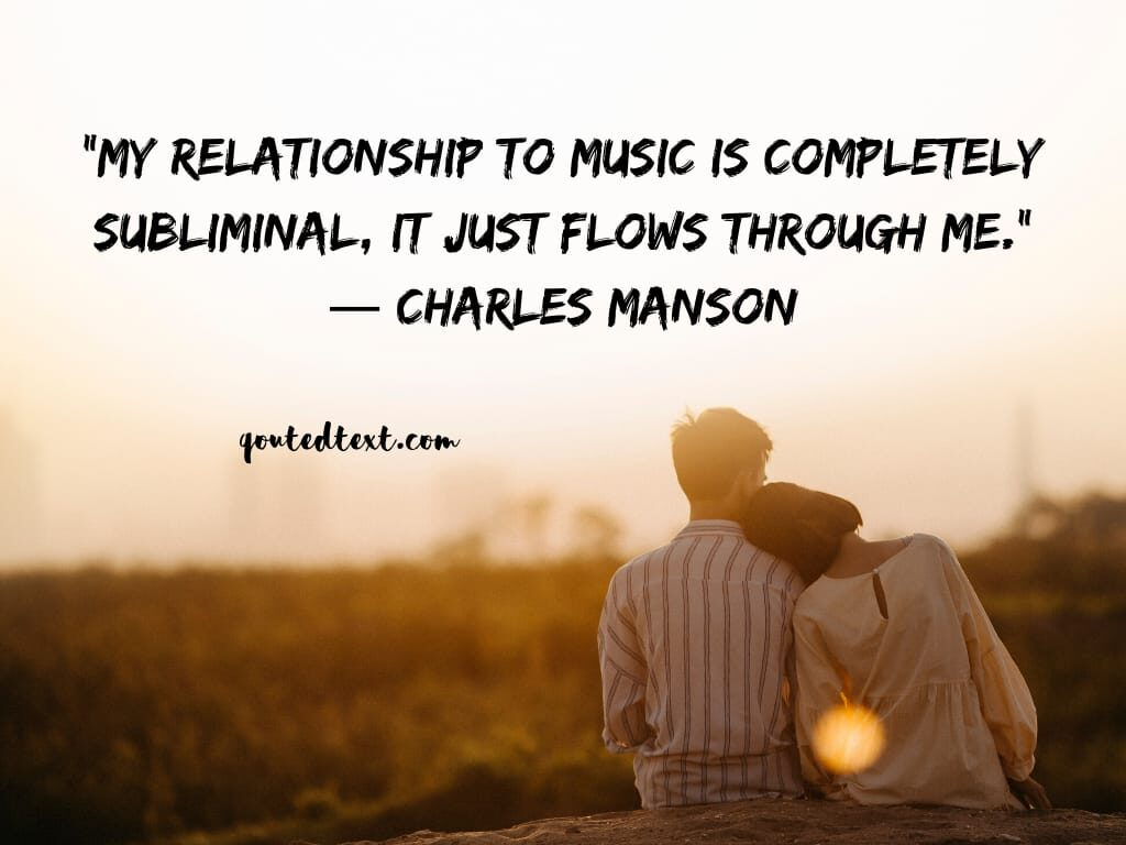 charles manson quotes on music