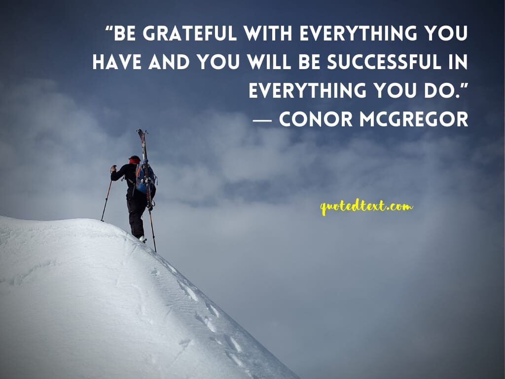 conor mcgregor quotes on successful life