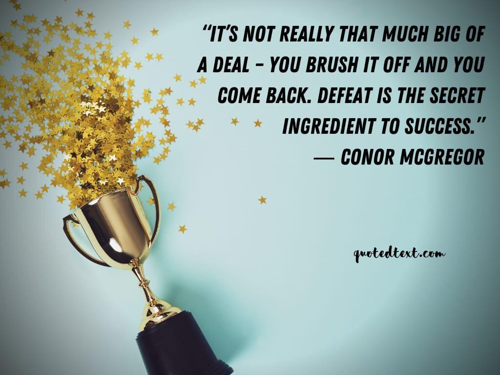 conor mcgregor quotes on success
