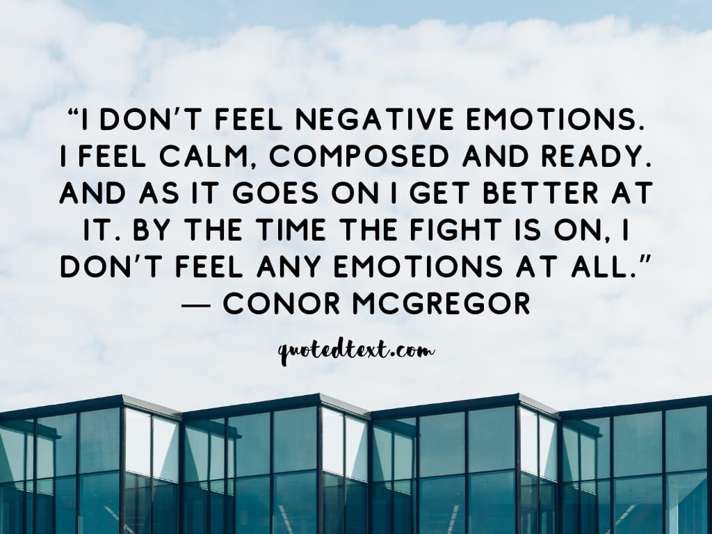 conor mcgregor quotes on negativity