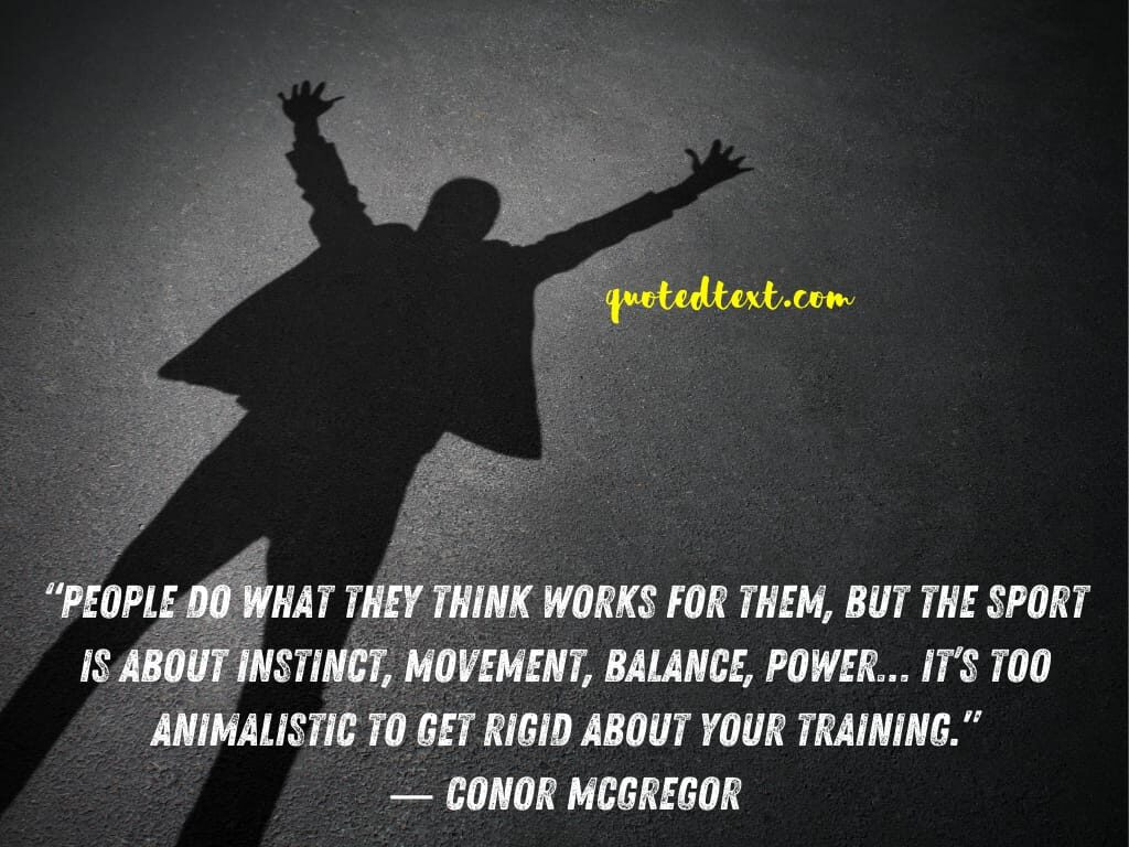 conor mcgregor quotes on sports