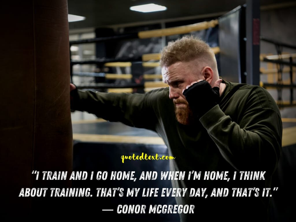 conor mcgregor quotes on training
