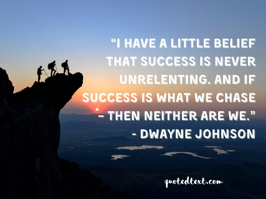 Dwayne johnson quotes on success