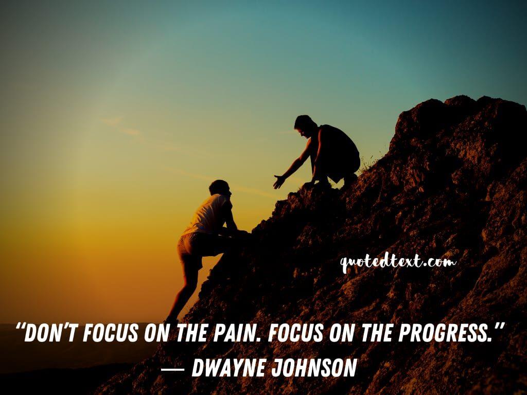 Dwayne johnson quotes on pain