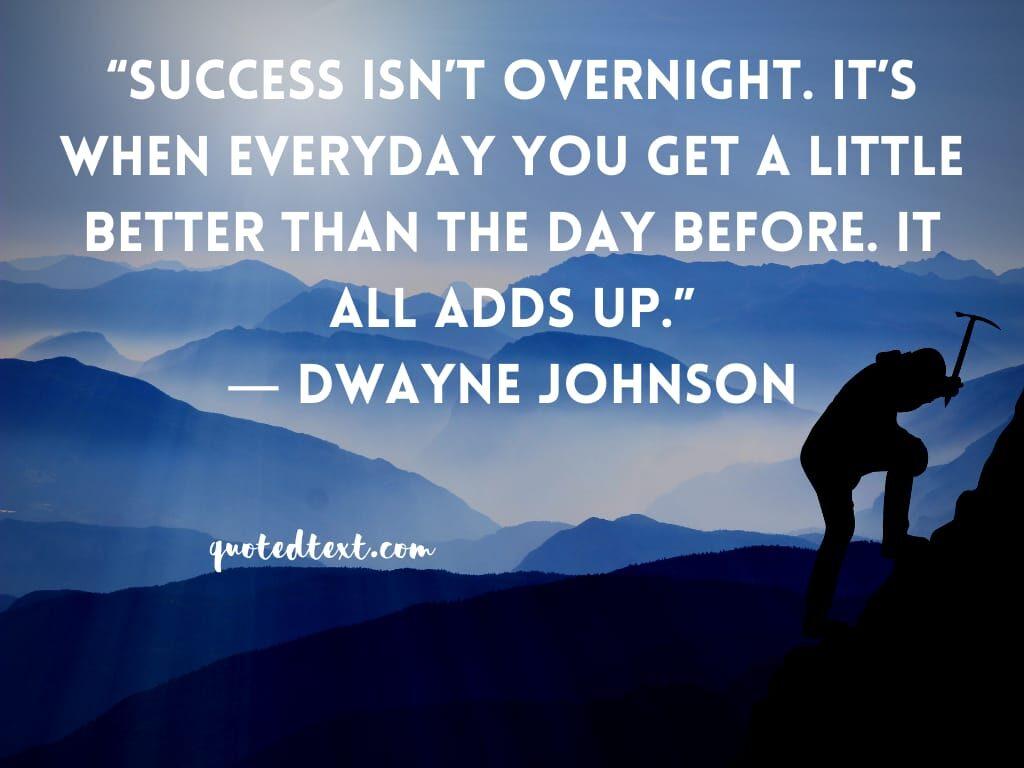 Dwayne johnson quotes on success