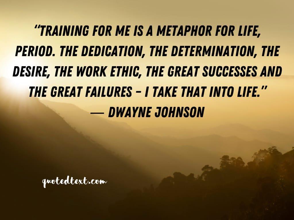 Dwayne johnson quotes on training