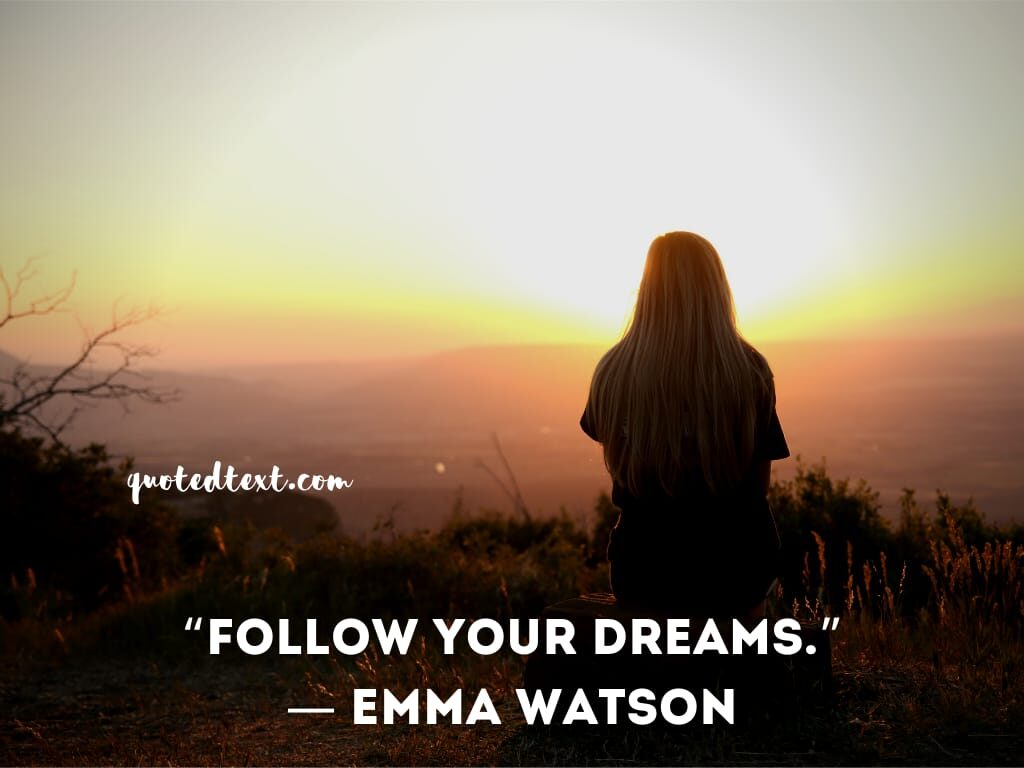 emma watson quotes on dreams