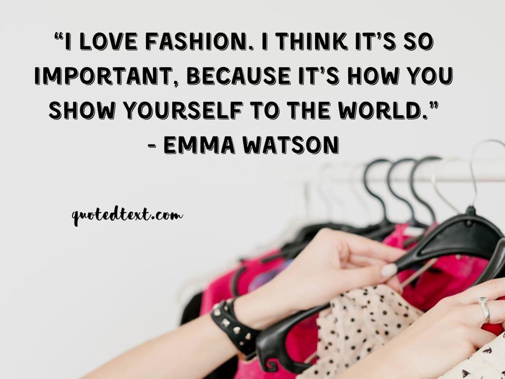 emma watson quotes on fashion