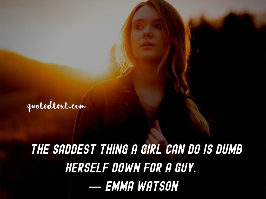 emma watson quotes on girls