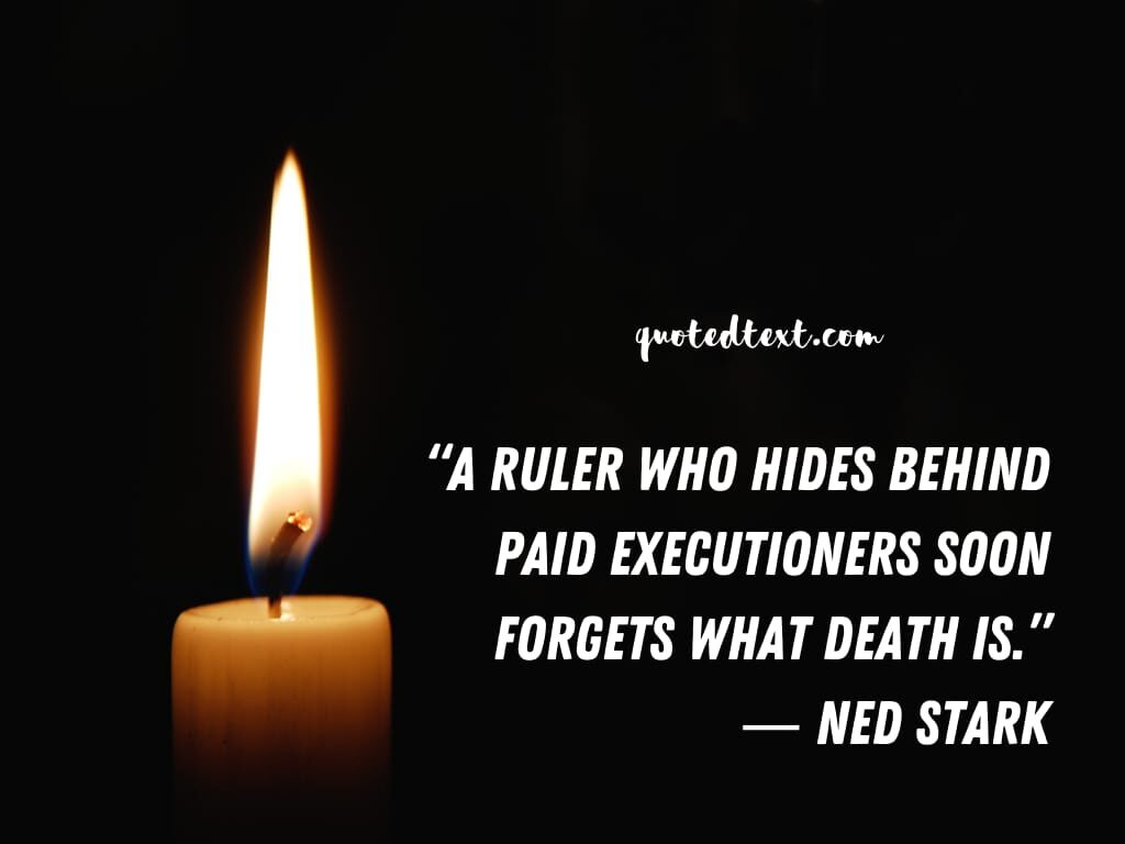 game of thrones quotes on death