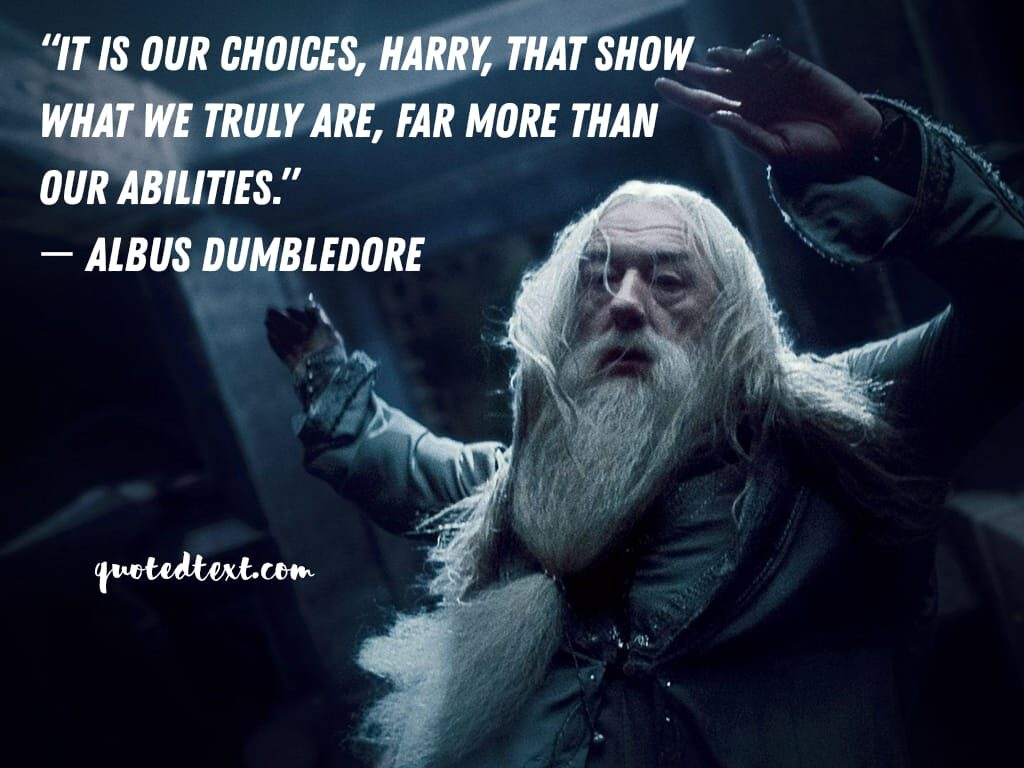 harry potter quotes by albus dumbledore on abilities
