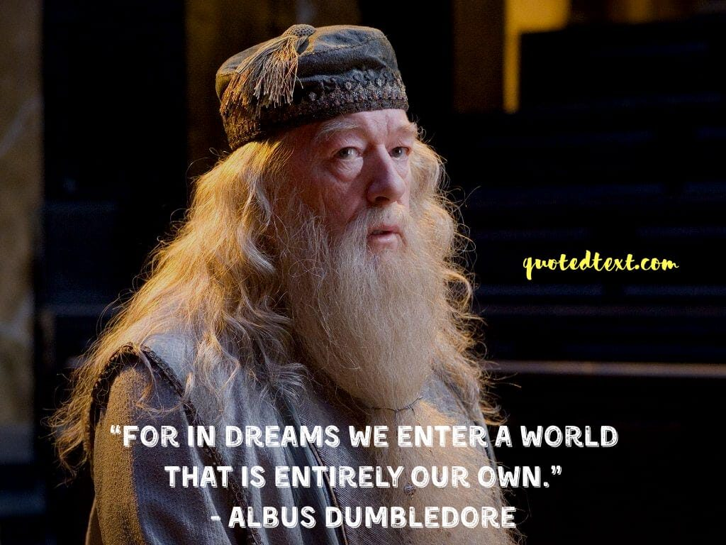 quotes by albus dumbledore on dreams