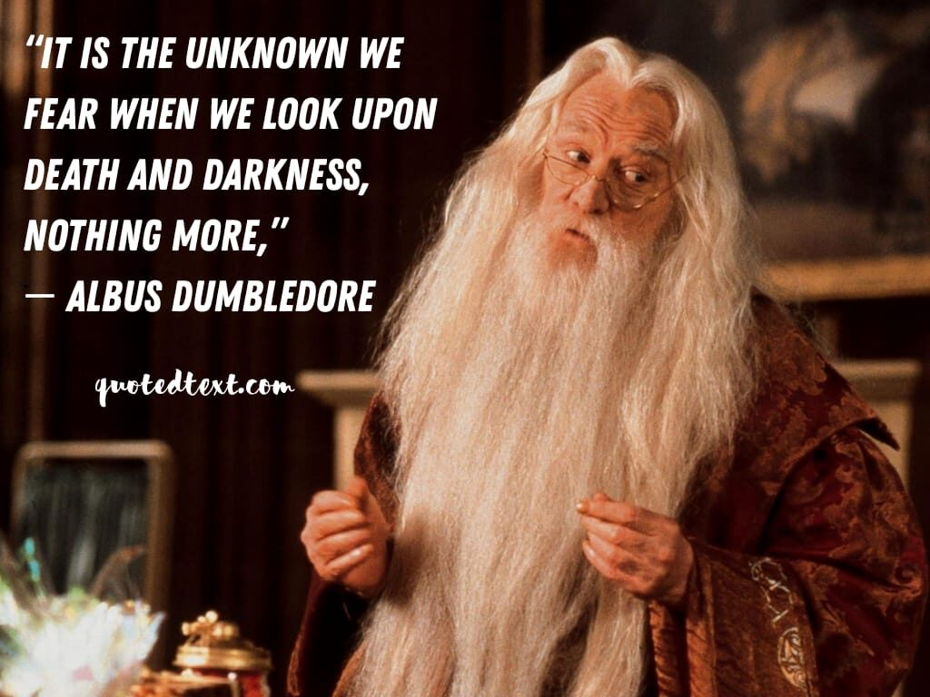 harry potter quotes by albus dumbledore on fear