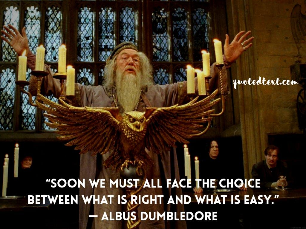 quotes by albus dumbledore on choices
