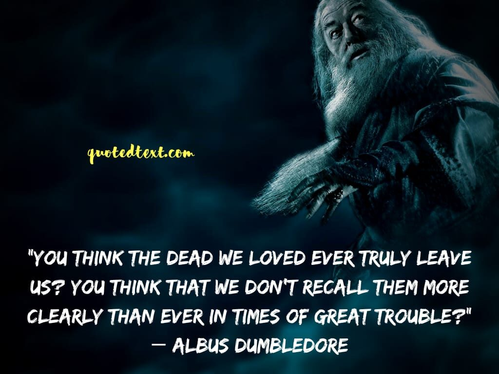 quotes by albus dumbledore on death