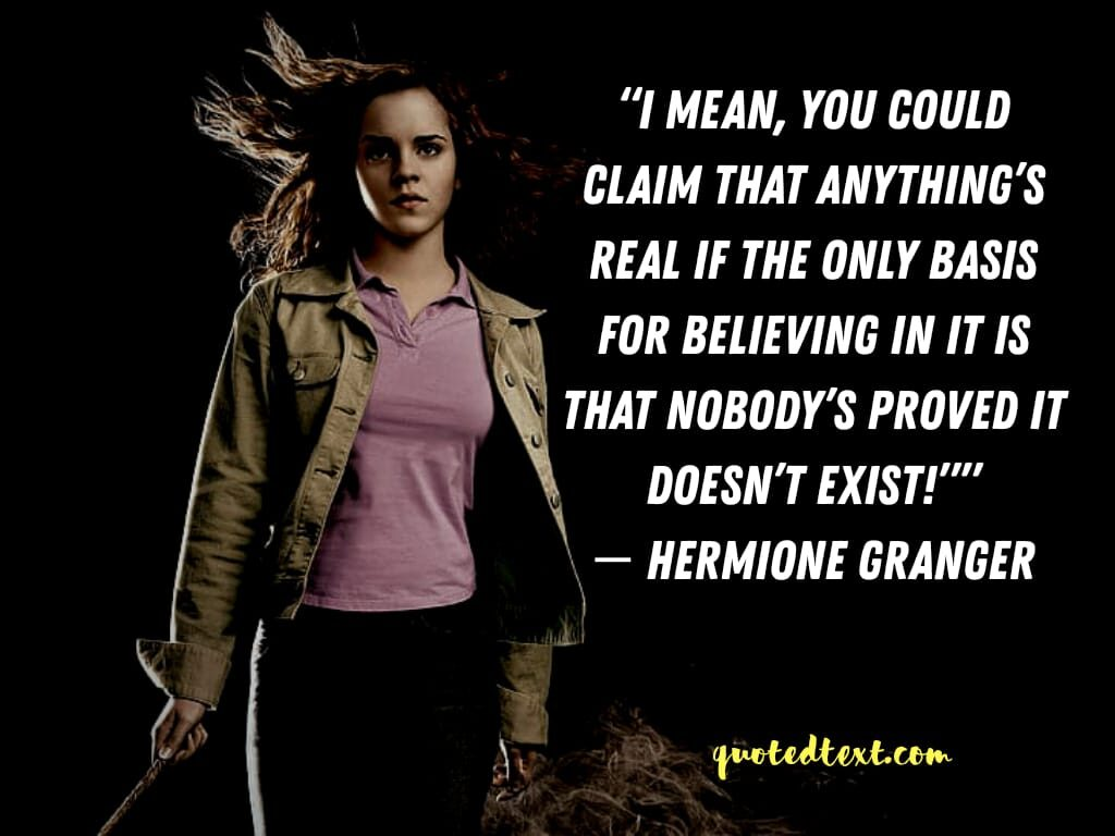 harry potter quotes by hermione granger