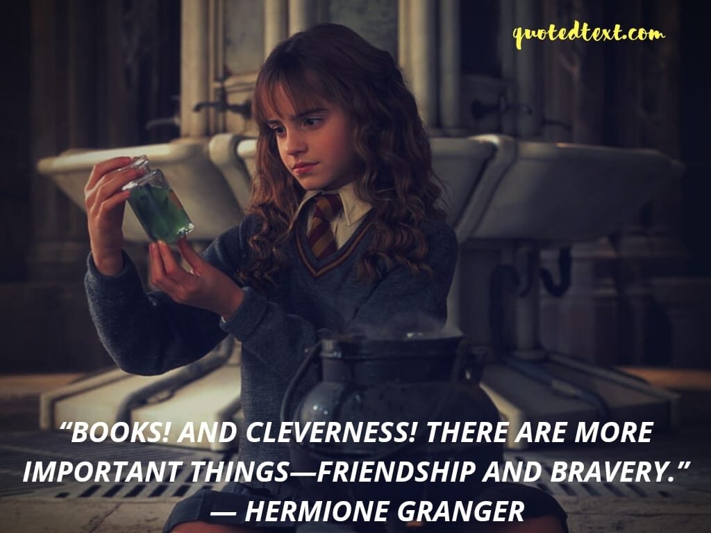 harry potter quotes by hermione granger on books
